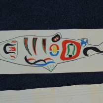 A Musqueam salmon design.
